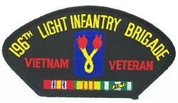 196th Light Infantry Brigade Vietnam Veteran Patches